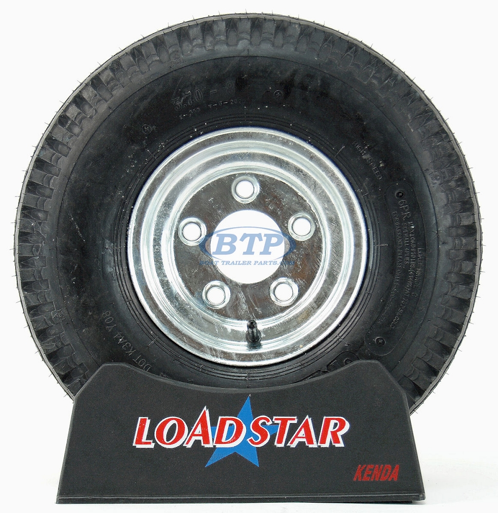 8 inch Galvanized Wheel and Tire
