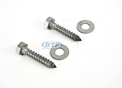 (PAIR) 5/16 x 1 1/2  Stainless Steel Lag Screws for Swivel Top  Bracket