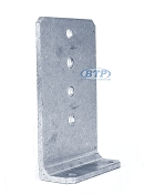 8 inch Bunk Bracket Aluminum L-Type for Bunk Boards on Boat Trailers