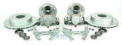 Kodiak Trailer Slip-on Disc Brake Kit w/ SS Calipers, 5 Lug Galv Hubs