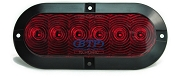 LED Red Oval Surface Mounted Light