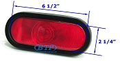 Red Incandescent Oval Replacement Light Sealed Kit