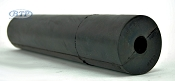 12 inch Black Rubber Straight Roller 1/2 inner diameter