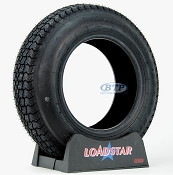 Trailer Tire ST175/80D13 Bias Ply 13 in Load Range C 1360lb by Loadstar