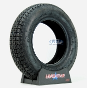 Trailer Tire ST205/75D15 Bias Ply 15 in Load Range C 1820lb by Loadstar