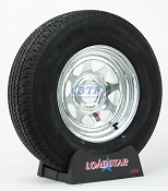 Boat Trailer Tire ST215/75R14 Radial on Galvanized Rim 5 Lug by Loadstar