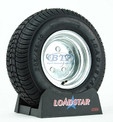 Trailer Tire 20.5x8x10 aka 205/65-10 LRC on Galvanized Wheel 5 Lug by Loadstar