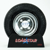 Boat Trailer Tire 4.80 x 8 on Galvanized Wheel 4 Lug Rim 590lb by Loadstar