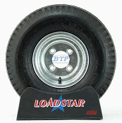 Boat Trailer Tire 5.70 x 8 on Galvanized Wheel 4 Lug 910lb by Loadstar