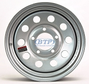 Trailer Wheel 13 inch Silver Modular Steel 5 Lug Rim 5 on 4 1/2
