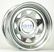 Boat Trailer Wheel 15 inch Galvanized 6 Lug Rim 6 on 5 1/2 Bolt Pattern