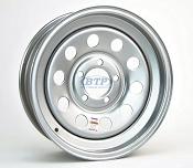 Trailer Wheel 15 inch Silver Modular Steel 5 Lug Rim 5 on 4 1/2
