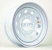 Trailer Wheel 16 inch White Painted Modular Steel 8 Lug 8 Bolt Pattern