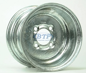 Galvanized Boat Trailer Wheel 10 inch x 6 inch 4 Lug 4 on 4 Bolt Pattern