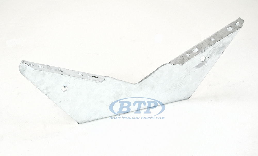 pontoon boat trailer bunk bracket wing style galvanized