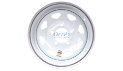13 inch White Painted Trailer Wheel