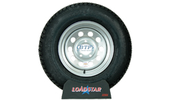 14 inch Silver Mod Steel Wheel and Tire