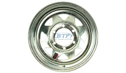 15 inch Galvanized Trailer Wheel