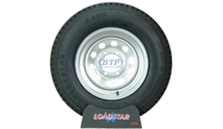 15 inch Silver Modular Steel Wheel and Tire