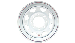 16 inch White Painted Trailer Wheel