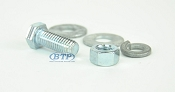7/16 inch Diameter by 1 inch Long Zinc Plated Bolt