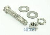 3/8 inch Diameter by 2 inch Long Stainless Steel Bolt