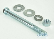 3/8 inch Diameter by 4 inch Long Zinc Plated Trailer Bolt