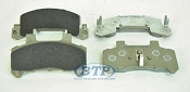 Kodiak Boat Trailer Ceramic Disc 225 Brake Pad Stainless Steel Set