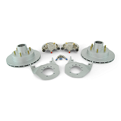 Kodiak Boat Trailer Integral Disc Brake Kit 6 Lug Dacromet / Stainless