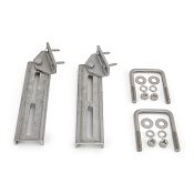 Set of 2 - Bunk Bracket Swivel Top 10 inch All Aluminum Kit for Bunk Boards