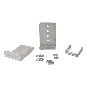 Set of 2 - 8 inch (1/4 inch thick) Stainless Steel Boat Trailer Bunk Brackets L-Type