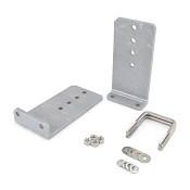 Set of 2 - 10 inch Heavy Duty Aluminum Boat Trailer Bunk Bracket L-Type Kit for 3x3 Cross Member
