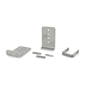 Stainless Steel 8 inch Boat Trailer Bunk Bracket Kit (L-Type)