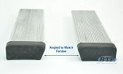 (PAIR) Aluminum Boat Trailer Round Fender Mount and Step Pads
