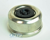 Zinc Plated 2.717 in Accu-Lube Trailer Dust Cap fits most 8 Lug Hubs