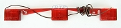 Red ID Light Bar Submersible Bendable Backing for Boat Trailer