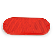 Red Reflector Oblong Oval Side Marker