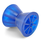 Poly Vinyl Boat Trailer Bow Roller 3 inch Blue