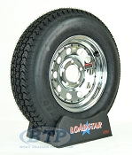 Trailer Tire ST175/80D13 on Chrome Wheel 5 Lug Rim by Loadstar