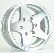 Boat Trailer Wheel 15 inch Aluminum Wheel 5 Star 6 Lug Rim