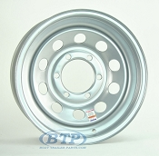Trailer Wheel 15 inch Silver Modular Steel 6 Lug Rim 6 on 5 1/2