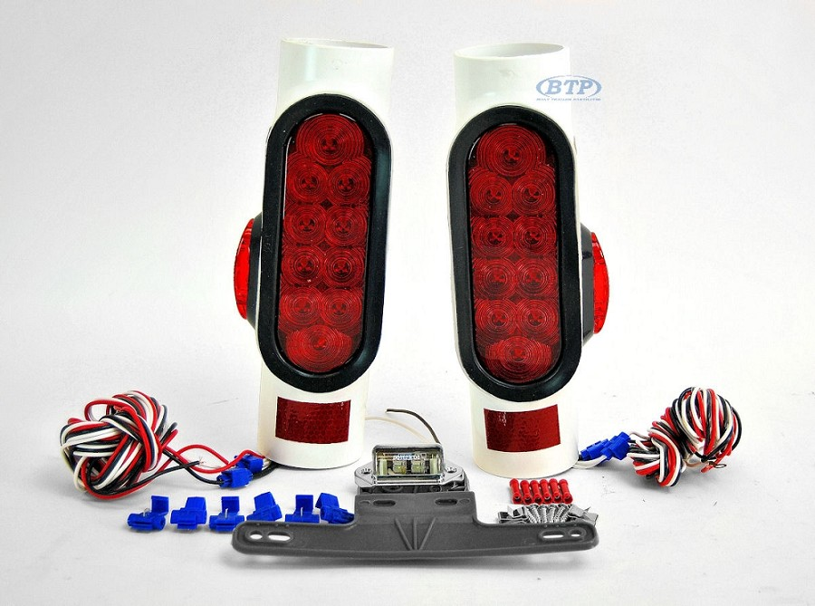LED Pipe Light Kit with LED Side Markers for Boat Trailers