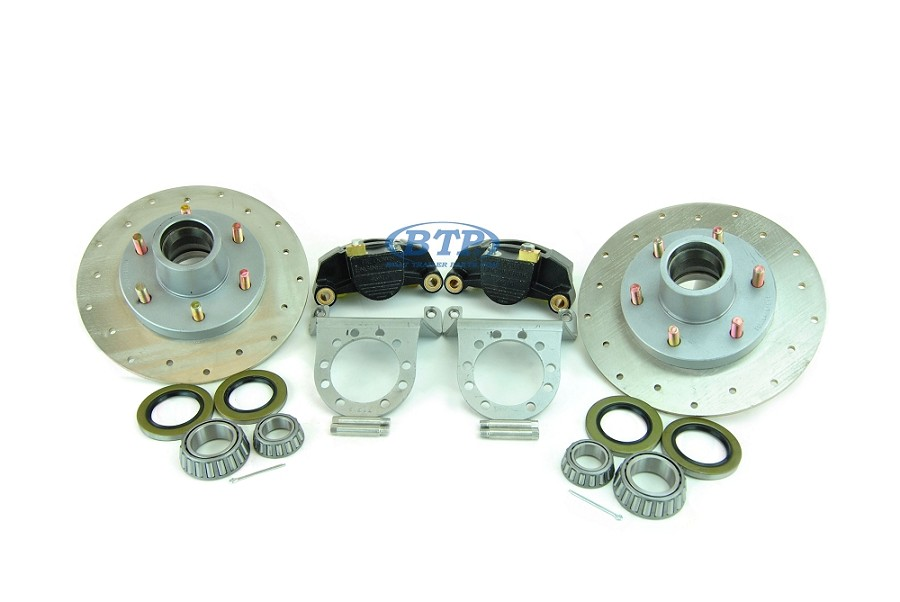 Tie Down 12 inch Stainless Steel G5 Boat Trailer Disc Brake Kit 6 Lug