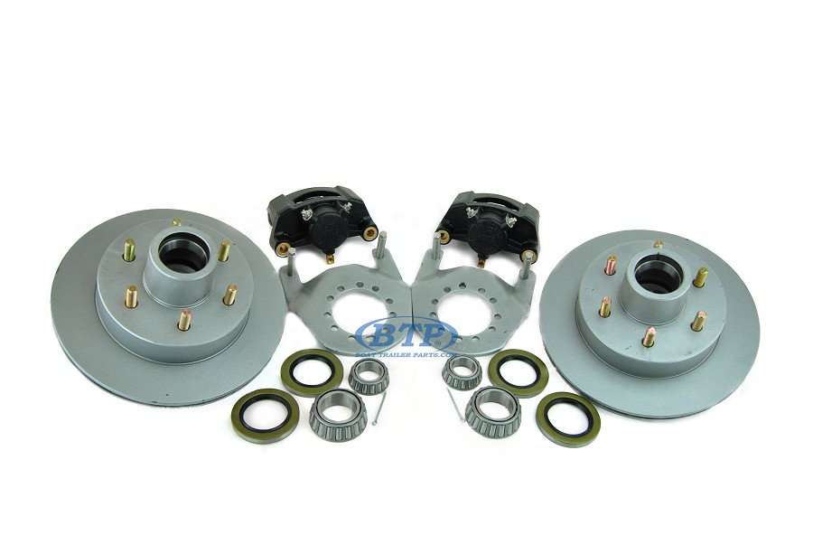 Tie Down 12 inch Vented Boat Trailer Disc Brake Kit 6 Lug Aluminum Caliper