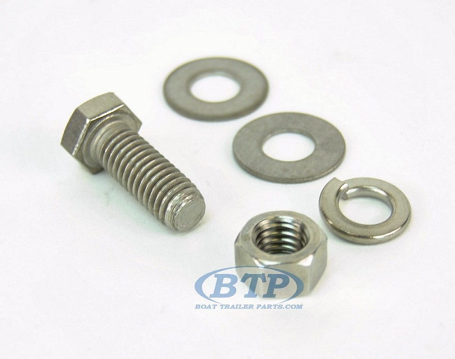 7/16 inch Diameter by 1 inch Long Stainless Steel Bolt