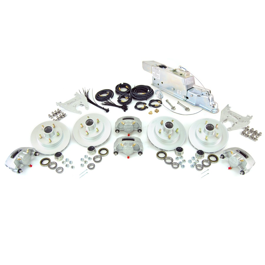 Boat Trailer Kodiak Disc Brake Kit Tandem Axle Assembly with Demco DA86B (8,600lb)