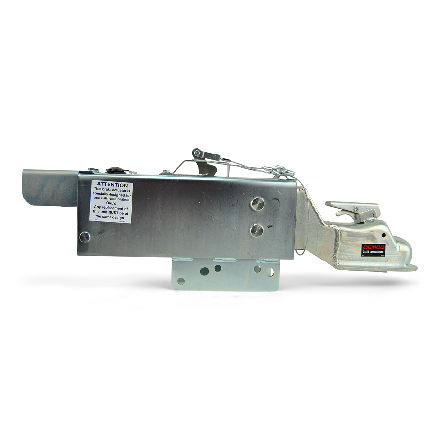 "Demco Hydraulic Surge Actuator for Disc Brakes 12500lb Capacity with Electric Lockout Solenoid 2 5/16"" Ball"